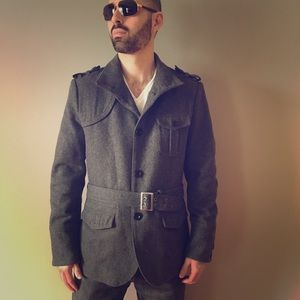 Men's Stylish Pea Coat in Grey